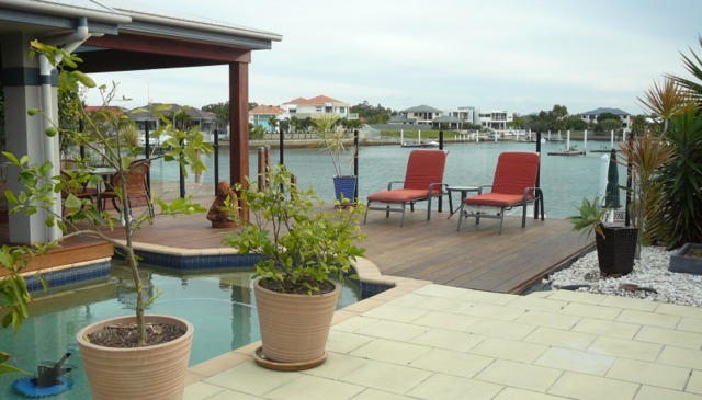 Modern waterfront home in sought after tourist destination